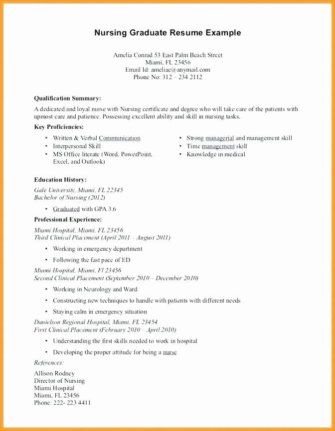 16 New Graduate Nursing Resume
