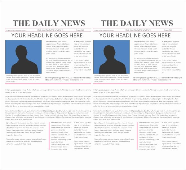 16 Newspaper Templates Free Sample Example format