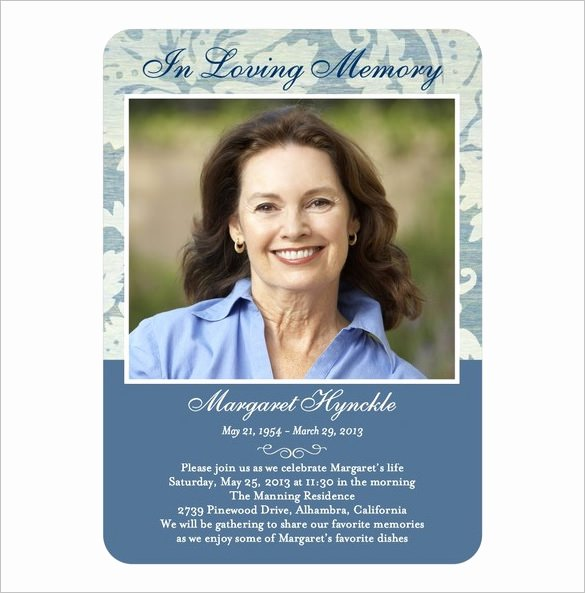 16 Obituary Card Templates Free Printable Word Excel