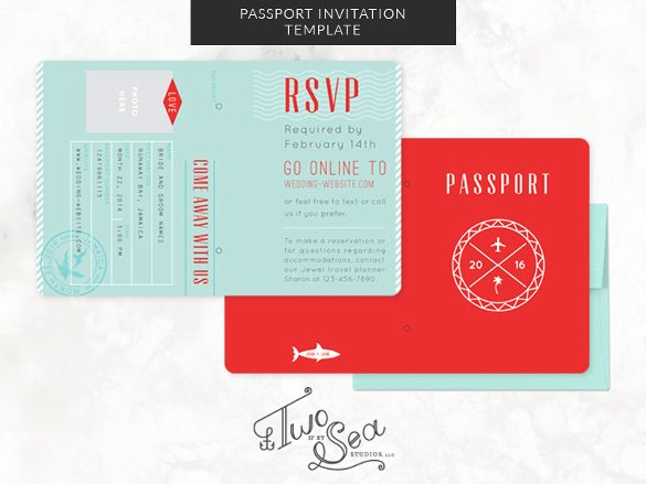 16 Passport Invitation Templates Free Sample Example