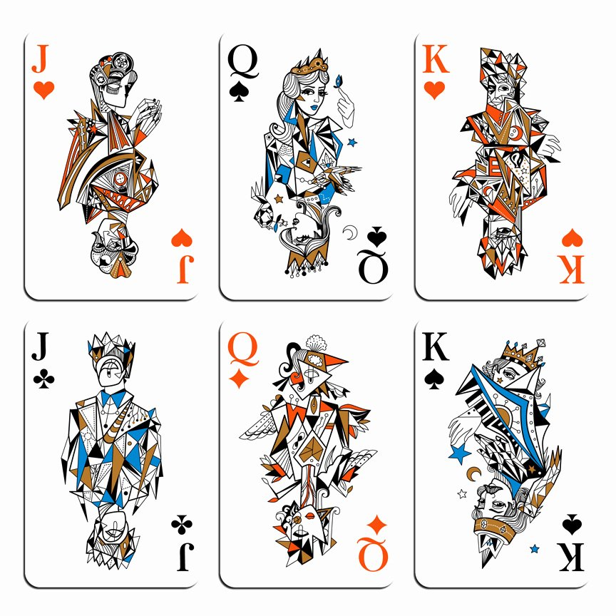 16 Playing Card Designs Queen Playing Card Design