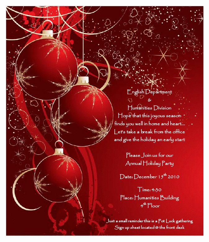 16 Printable Christmas Party Flyer Templates Free