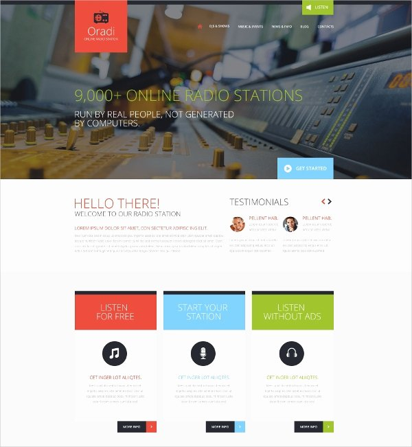 16 Radio Station Website themes & Templates
