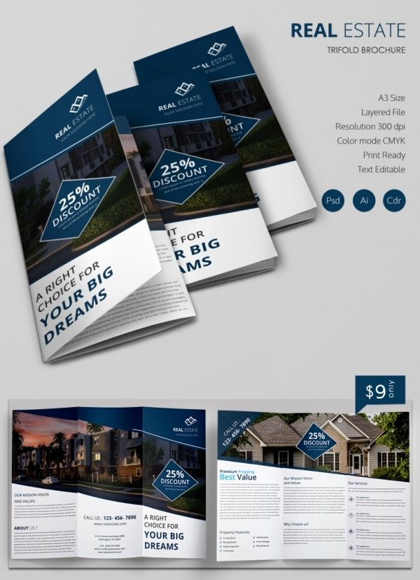 16 Real Estate Brochures – Free Psd Eps Word Pdf