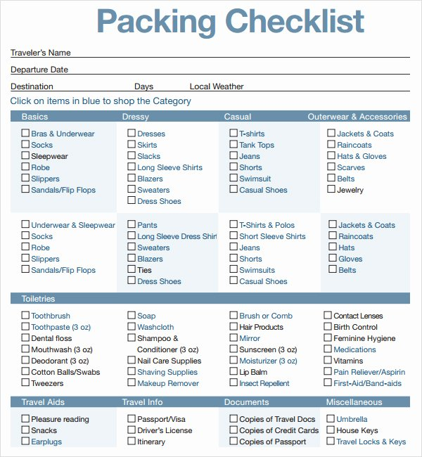 16 Sample Packing Checklist Templates to Download