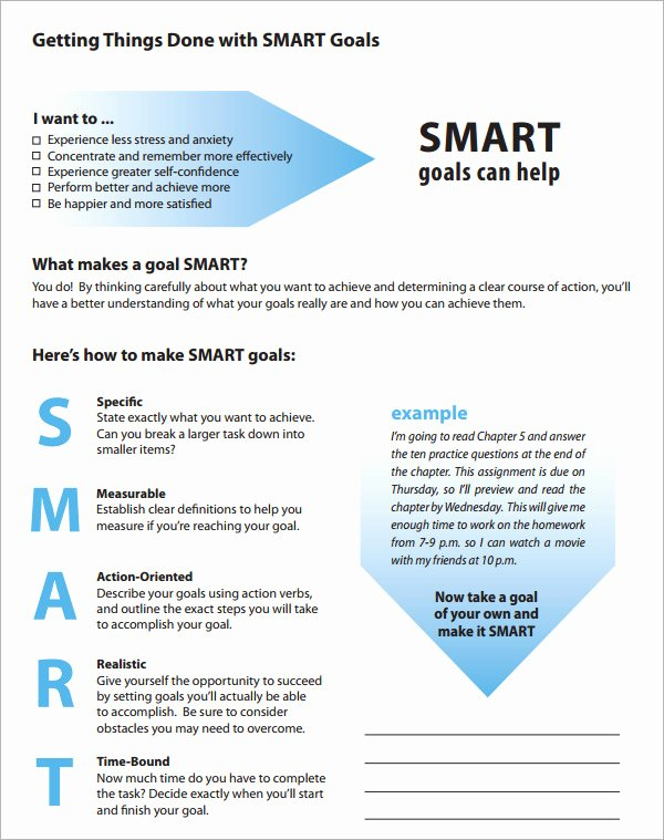 16 Sample Smart Goals Templates to Download
