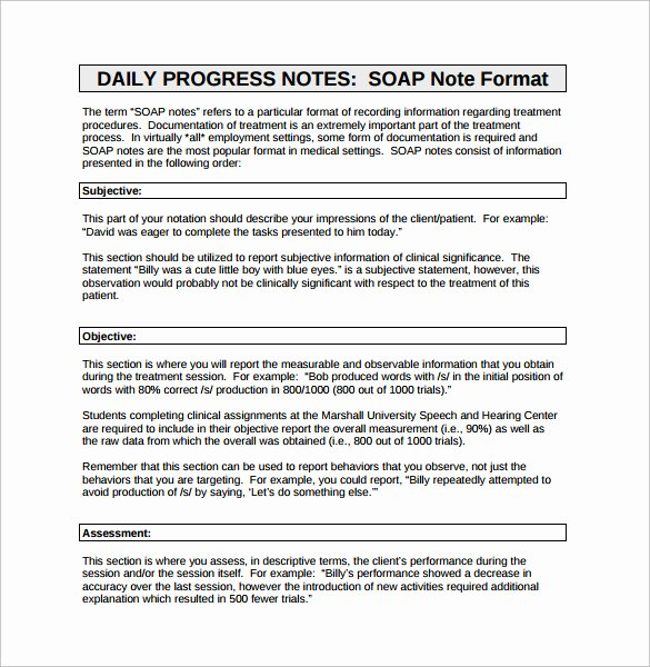 16 Sample soap Note Examples – Pdf Word