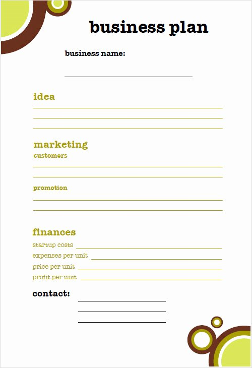 16 Small Business Plan Template Small Business