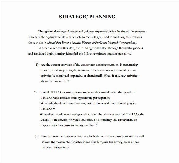16 Strategic Plan Templates Pdf Doc