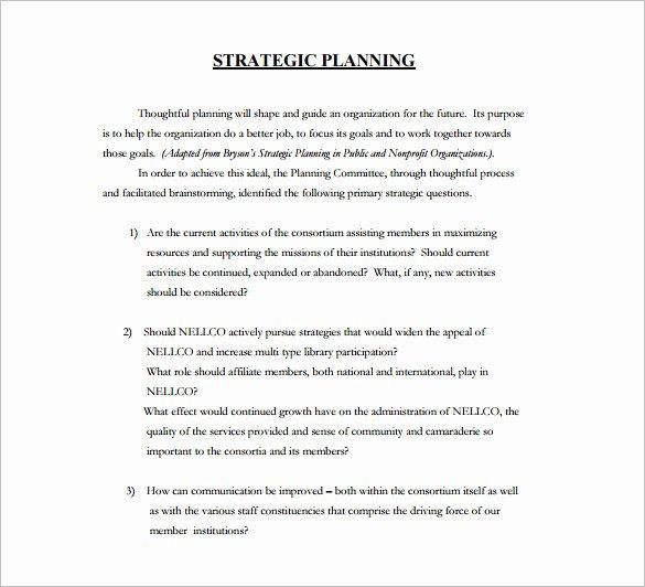 16 Strategic Plan Templates Pdf Doc