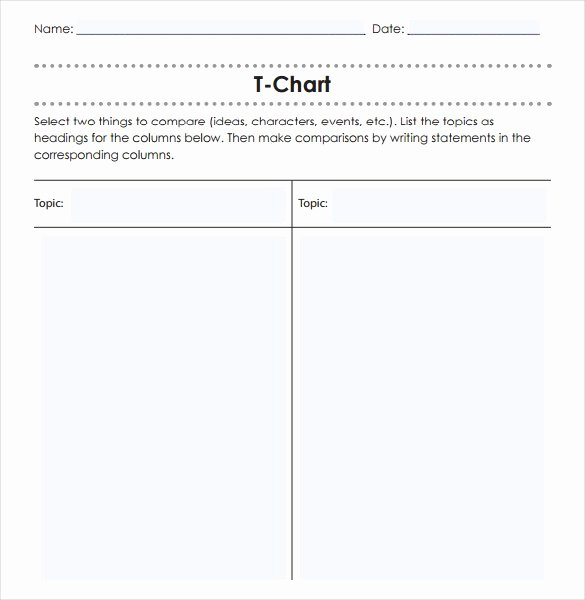 16 T Chart Templates Doc Pdf