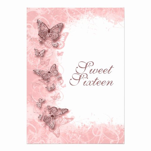 "16th ""sweet Sixteen"" Birthday Party Pink 5"" X 7"