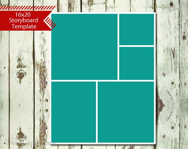 16x20 storyboard collage template