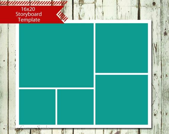 16x20 Storyboard Collage Template Layered Psd Collage