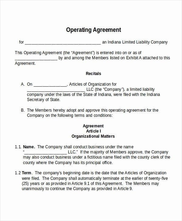17 Agreement Templates Free Sample Example format