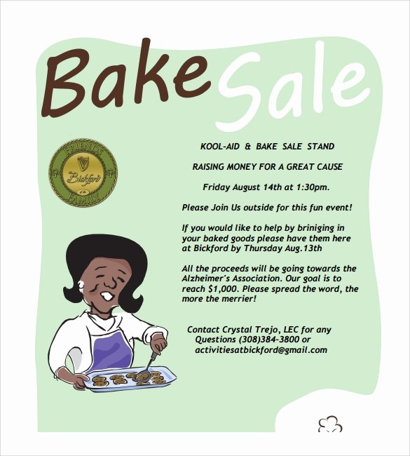 17 Bake Sale Flyers