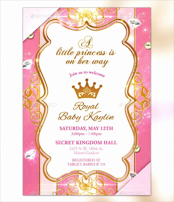 17 Beautiful Princess Invitations Psd Ai