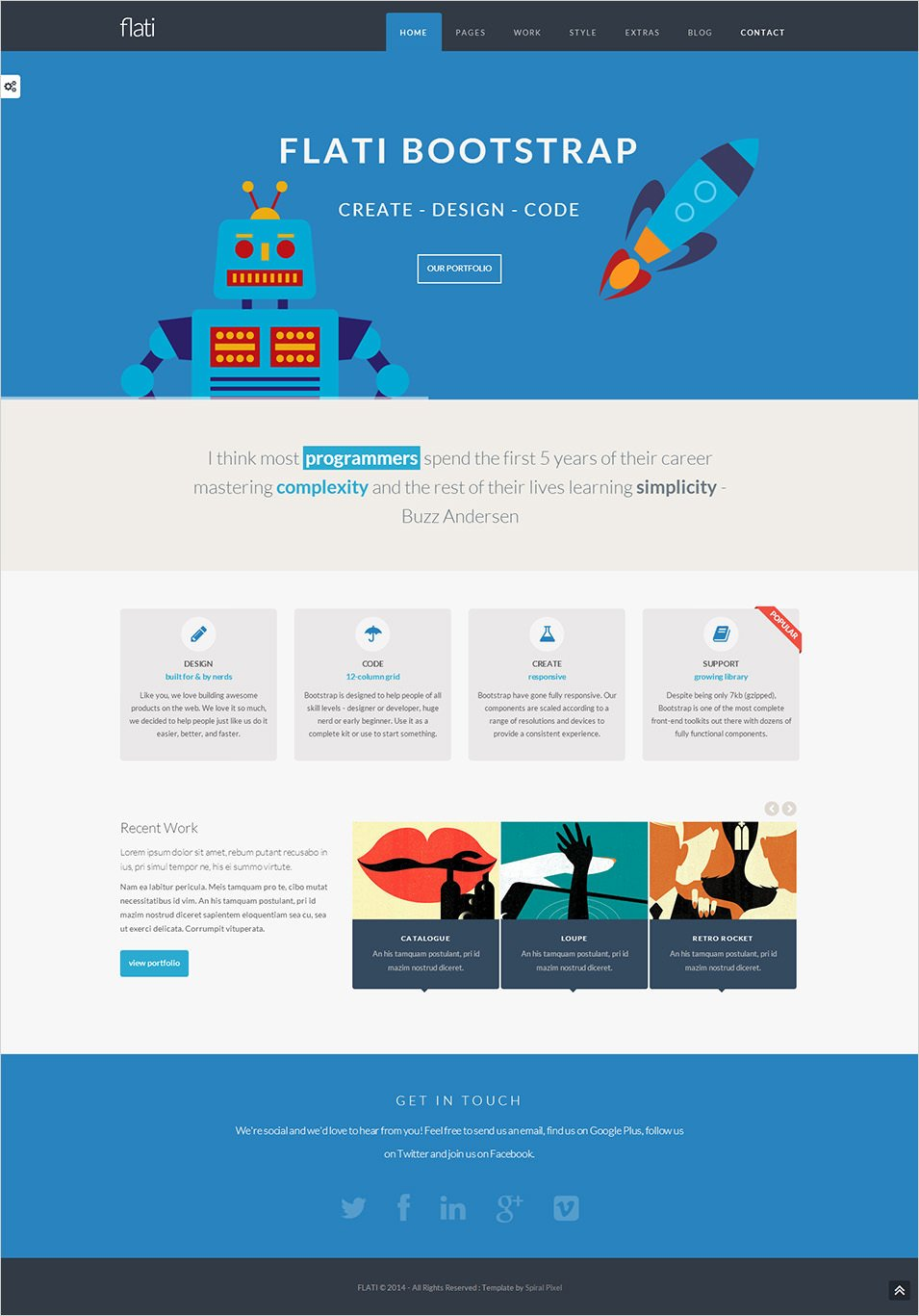 17 Best Flat Design Website Templates