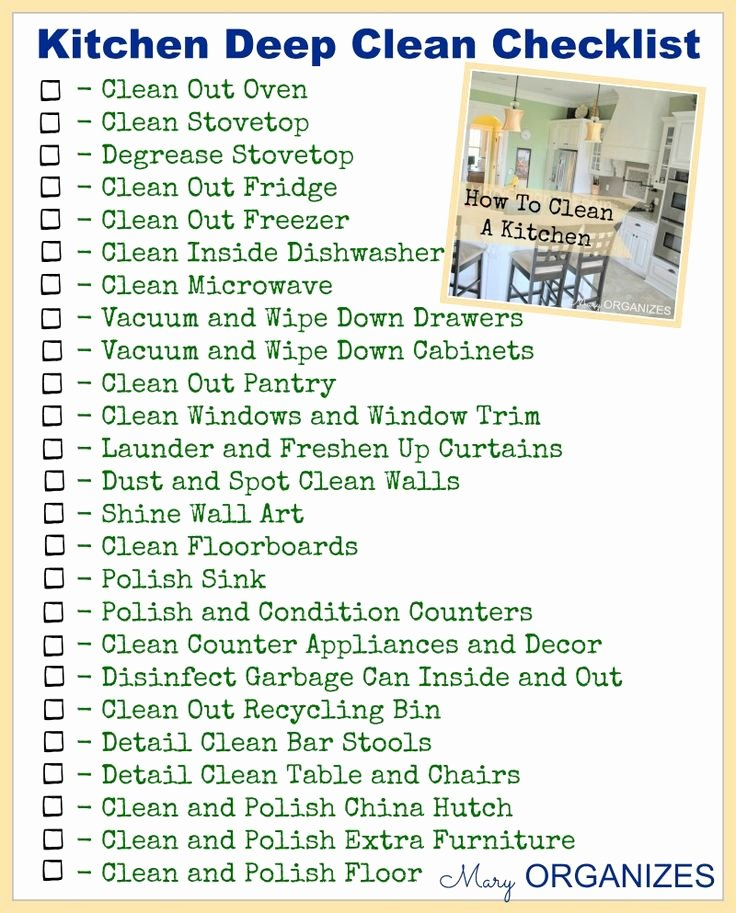 17 Best Ideas About Deep Cleaning Checklist On Pinterest