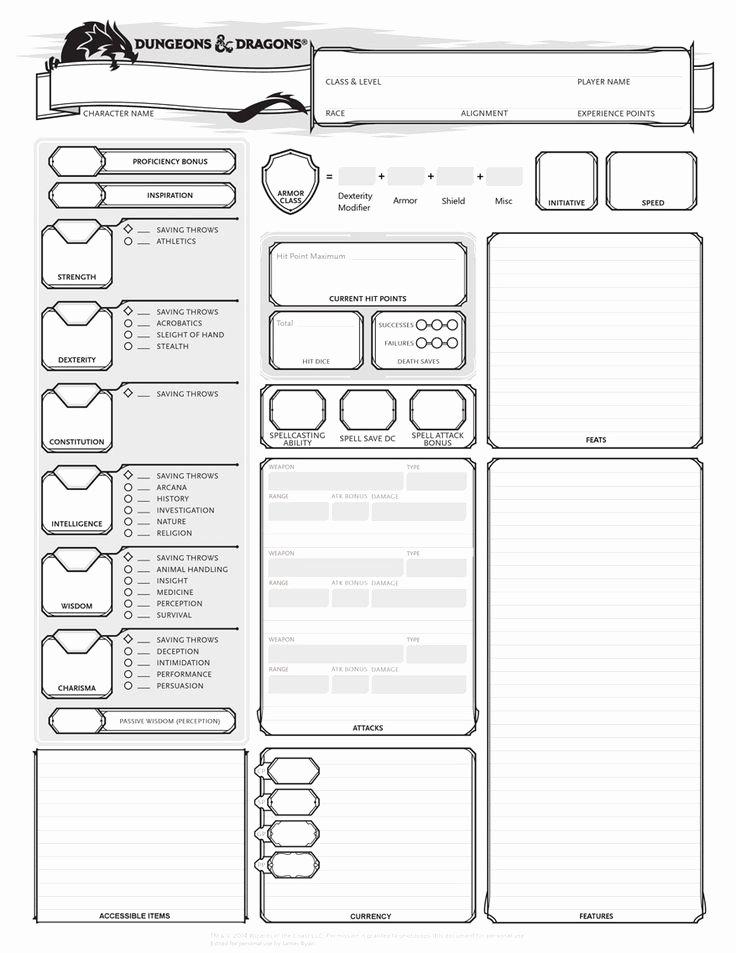 17 Best Ideas About Dnd Character Sheet On Pinterest
