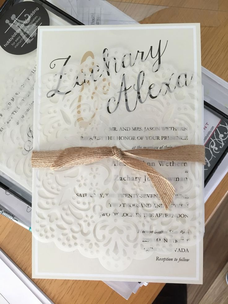 17 Best Ideas About Hobby Lobby Wedding Invitations On