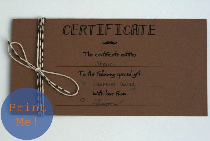 17 Best Ideas About Printable Gift Certificates On