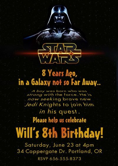 17 Best Ideas About Star Wars Invitations On Pinterest
