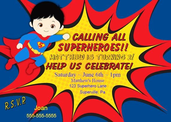 17 Best Ideas About Superman Invitations On Pinterest