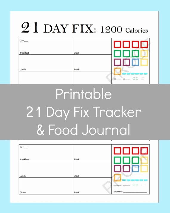 17 Best Images About 21 Day Fix Printable Sheets On