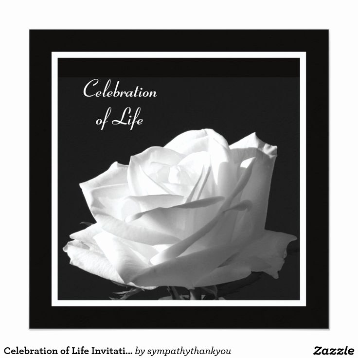 17 Best Images About Celebration Of Life Invitations On