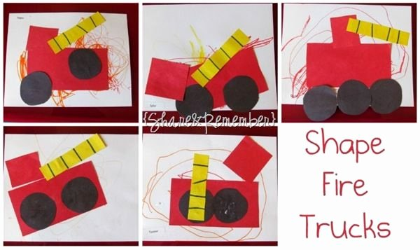 17 Best Images About Firetruck Shapes