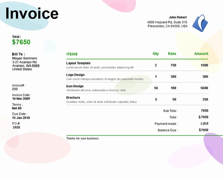17 Best Images About Invoices On Pinterest