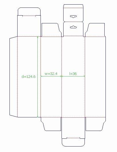 Box Packaging Cut Template Design 3d Mock Up Stock – Latter