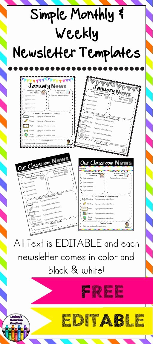 17 Best Images About Teaching Newsletter On Pinterest