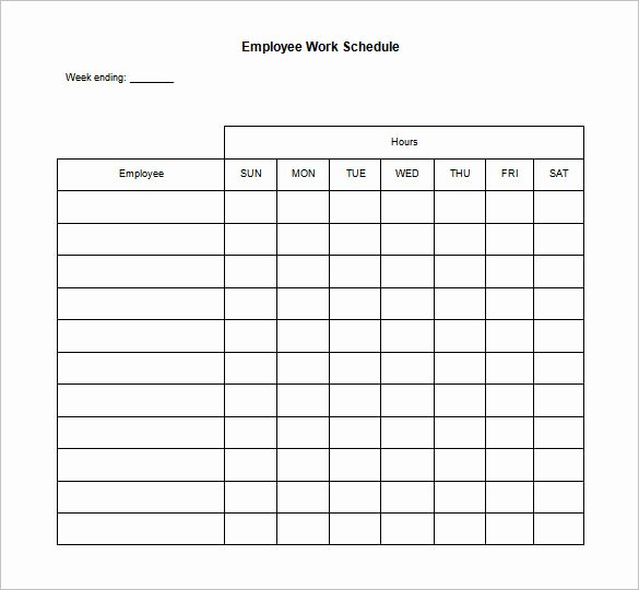 17 Blank Work Schedule Templates Pdf Doc