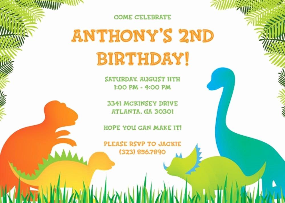 17 Dinosaur Birthday Invitations How to Sample Templates