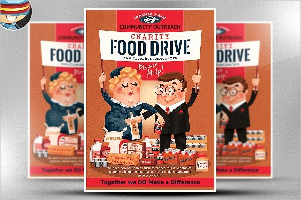 17 Food Drive Flyer Templates Psd Ai Word