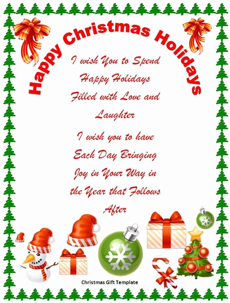 17 Free Christmas Templates for Word Free Word