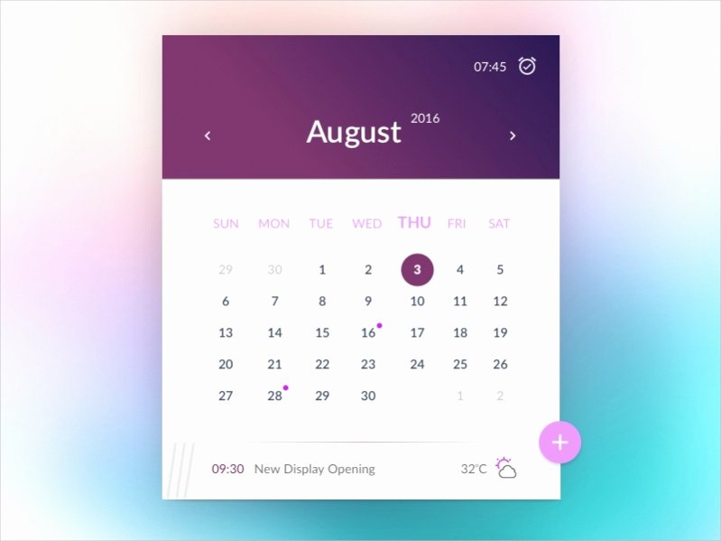 17 Free Monthly Calendars Psd Vector Eps Excel Download
