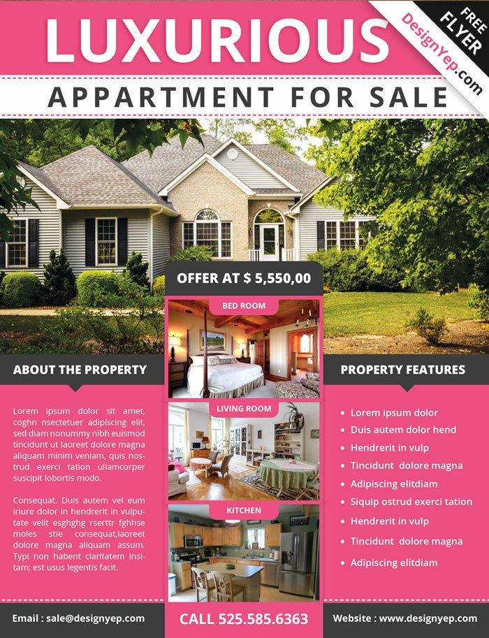 17 Free Real Estate Flyer Psd Templates Designyep