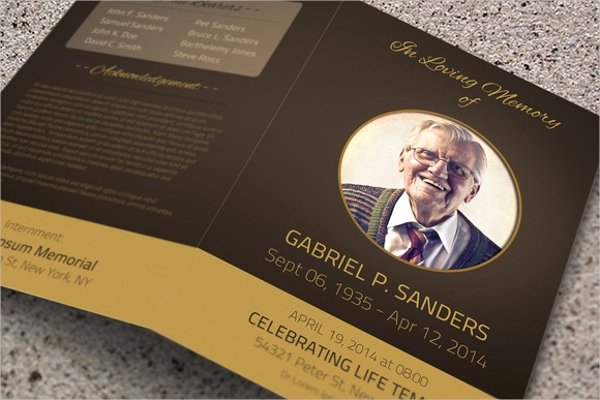 17 Funeral Brochure Templates Free Psd Ai Eps format
