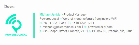 17 Great Minimalist Email Signature Designs