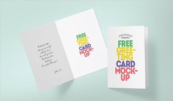 17 Greeting Card Mockups Free Psd Ai Vector Eps