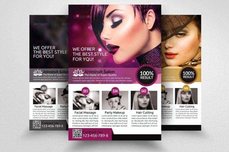 17 Hair Salon Flyer Designs & Templates Psd Ai