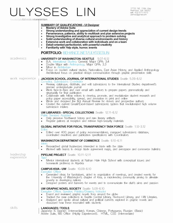 17 Images About Resumes On Pinterest