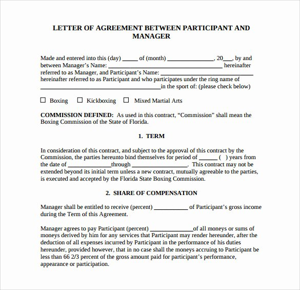 17 Letter Of Agreement Templates – Pdf Doc