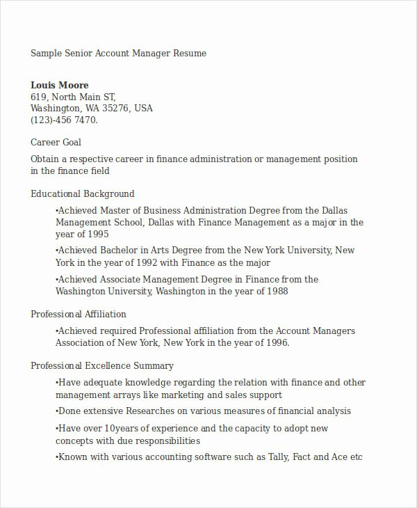 17 Manager Resume Templates Pdf Doc