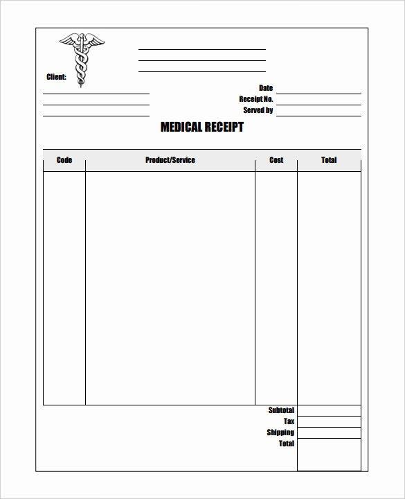 17 Medical Receipt Templates Pdf Doc
