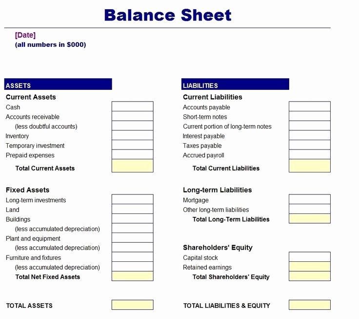 17 Melhores Ideias sobre Balance Sheet Template No Pinterest