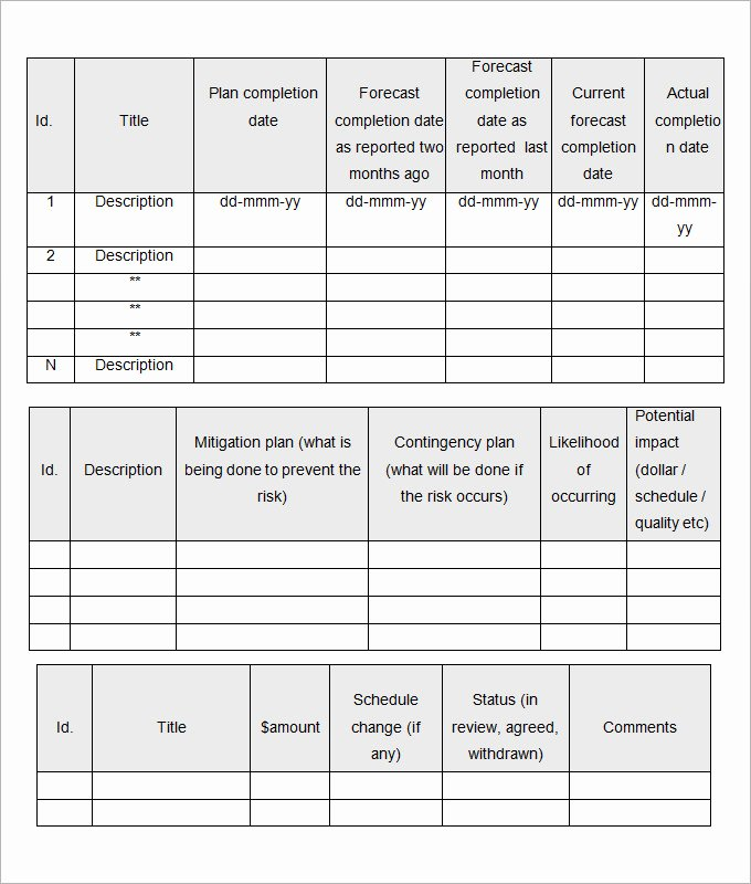 17 Monthly Report Management Templates Free Excel Ppt